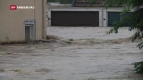 Video «Schon wieder schwere Überschwemmungen in Süddeutschland» abspielen