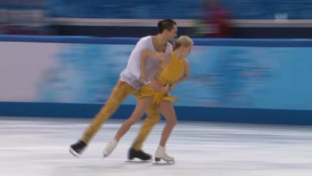 Video «Eiskunstlauf: Siegerkür Woloschar/Trankow (sotschi direkt, 12.02.2014)» abspielen