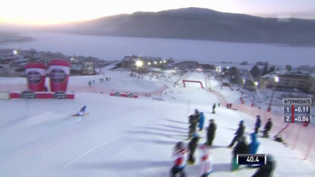 Video «Ski: Weltcup Frauen, Slalom Are, Pietilae-Holmner 1. Lauf» abspielen
