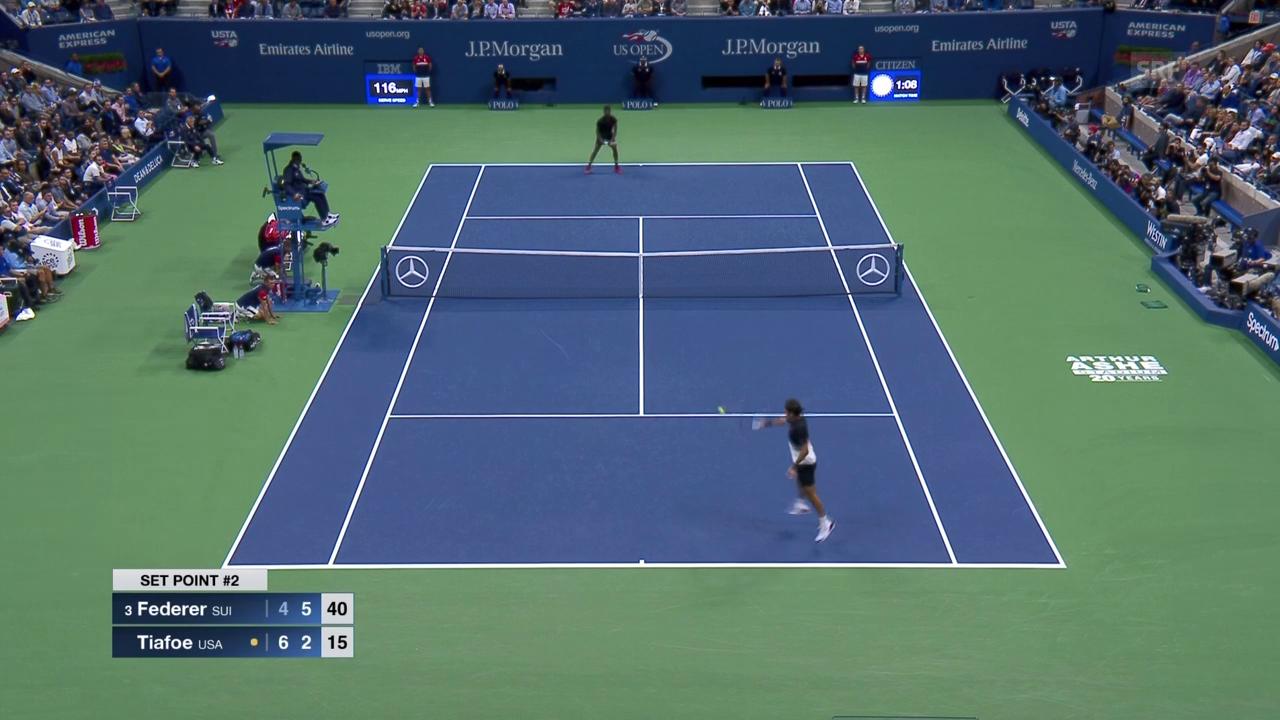 Federer muss gegen Tiafoe alles aufbieten
