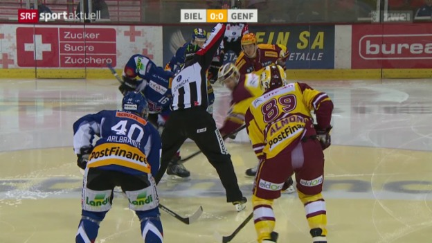 Video «Eishockey, NLA: Biel - Genf» abspielen