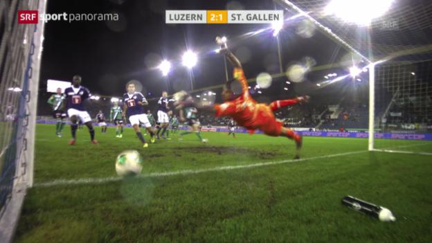 Video «Fussball: Zusammenfassung Luzern - St. Gallen («sportpanorama»)» abspielen
