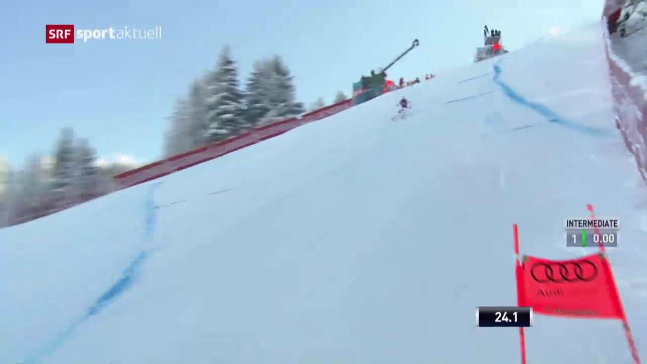 Beat Feuz bester Schweizer im Kitzbühel-Training