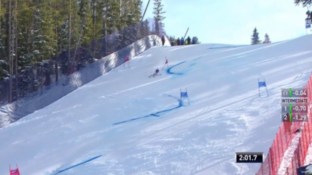 Video «Ski: RS Beaver Creek, 2. Lauf Caviezel» abspielen
