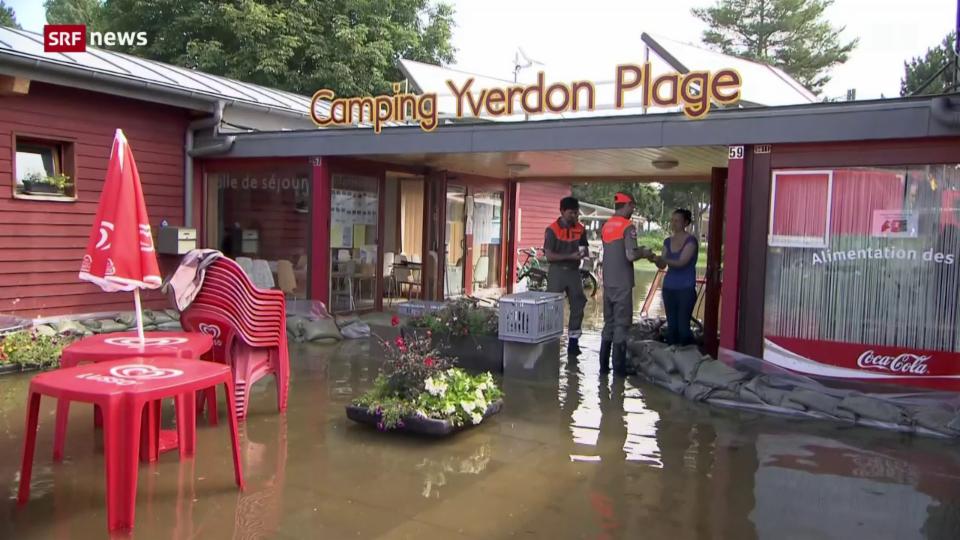 Grosse Überschwemmungen in Yverdon-les-Bains
