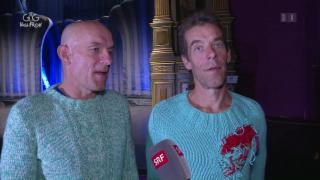Video «Wie lustig ist das Comedy-Duo «Oropax» hinter der Bühne?» abspielen