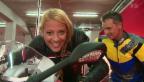 Video «Christa Rigozzi: Töff-Fahrstunde mit Rolf Biland» abspielen