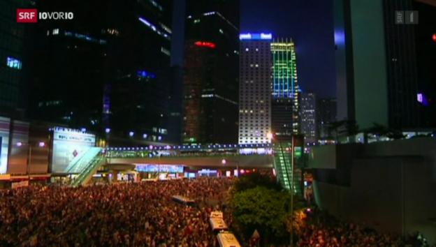 Video «Hongkong: Demonstrationen für die Freiheit» abspielen