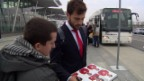 Video «Fussball: Schweizer Nati kommt in Polen an» abspielen