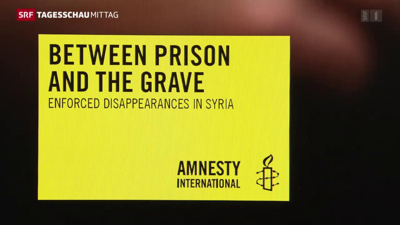 Amnesty International kritisiert Assad-Regime