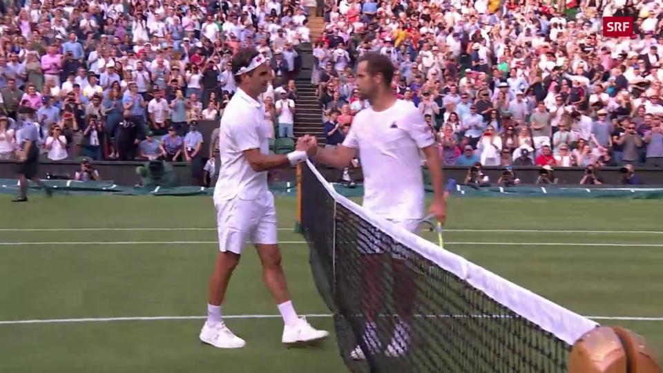 Federer batta Gasquet en trais sets