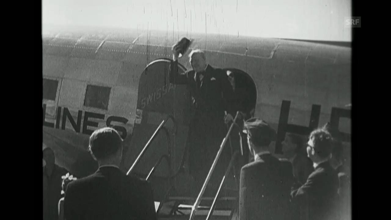 «Churchills Ankunft», Schweizer Filmwochenschau, 6.9.1946