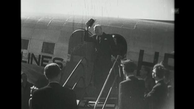 Video ««Churchills Ankunft», Schweizer Filmwochenschau, 6.9.1946» abspielen