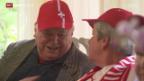 Video «Fussball: Altersheim besucht Nati-Training in Weggis» abspielen
