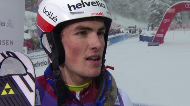 Video «Ski alpin: Slalom Wengen, Inti Yule nach 2. Lauf» abspielen