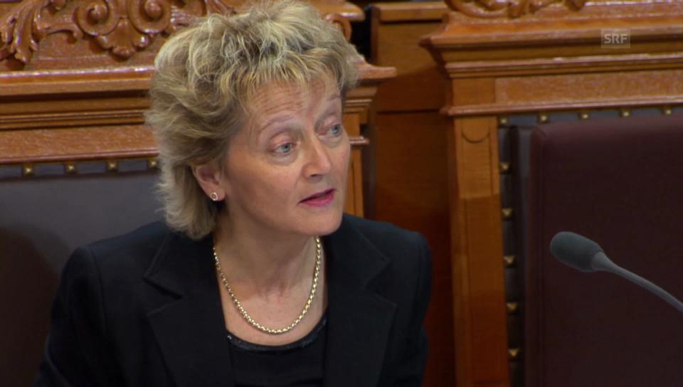 Bundesrätin Widmer-Schlumpf zur Pauschalbesteuerung