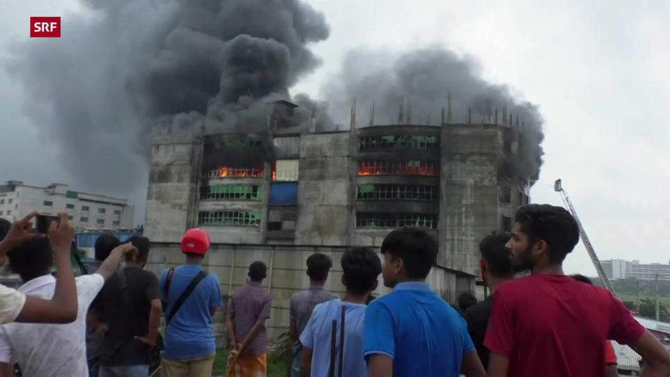 Viele Todesopfer bei Brand in Lebensmittelfabrik in Bangladesch