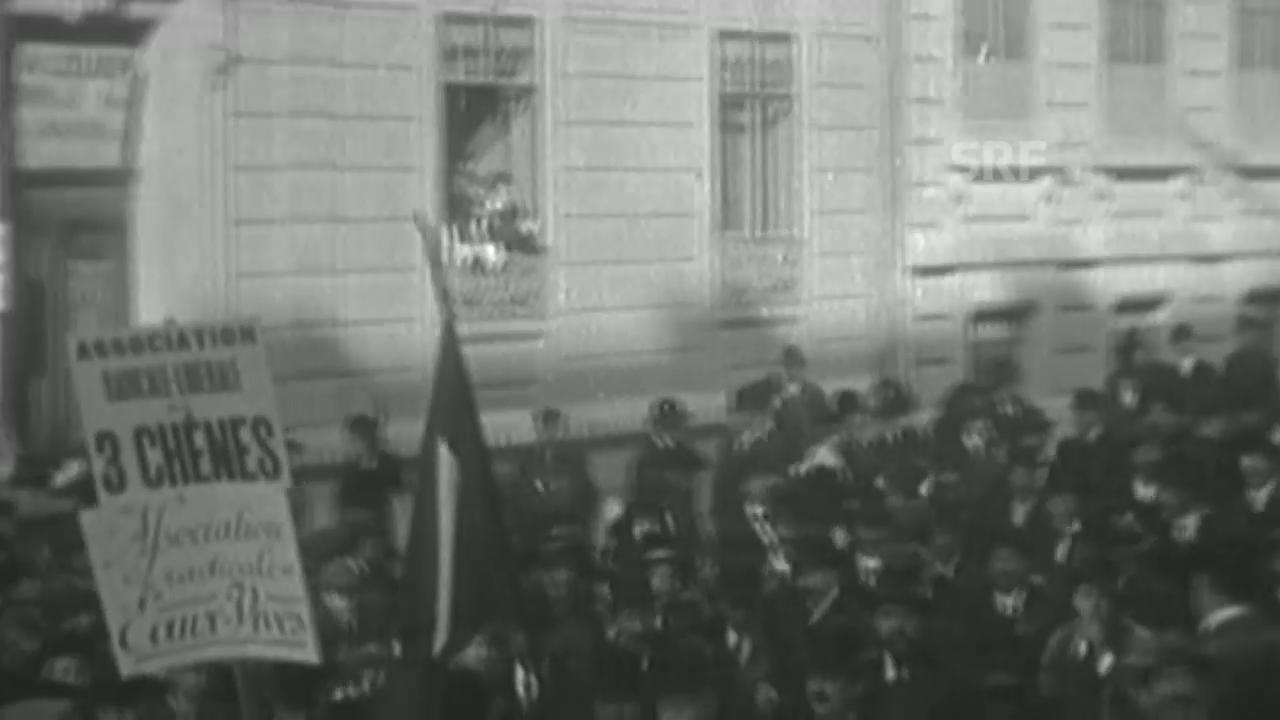 Demonstration gegen die Spionageoffiziere in Genf