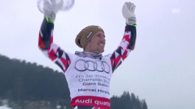 Video «Ski: Weltcup-Finale in Méribel, Hirscher gewinnt die grosse Kristallkugel («sportaktuell»)» abspielen
