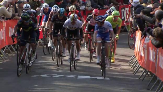 Video «Zielankunft Flèche Wallone» abspielen