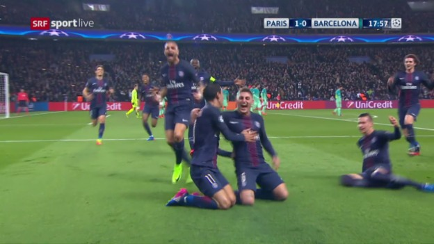 Video «PSG-Barcelona – die Live-Highlights» abspielen