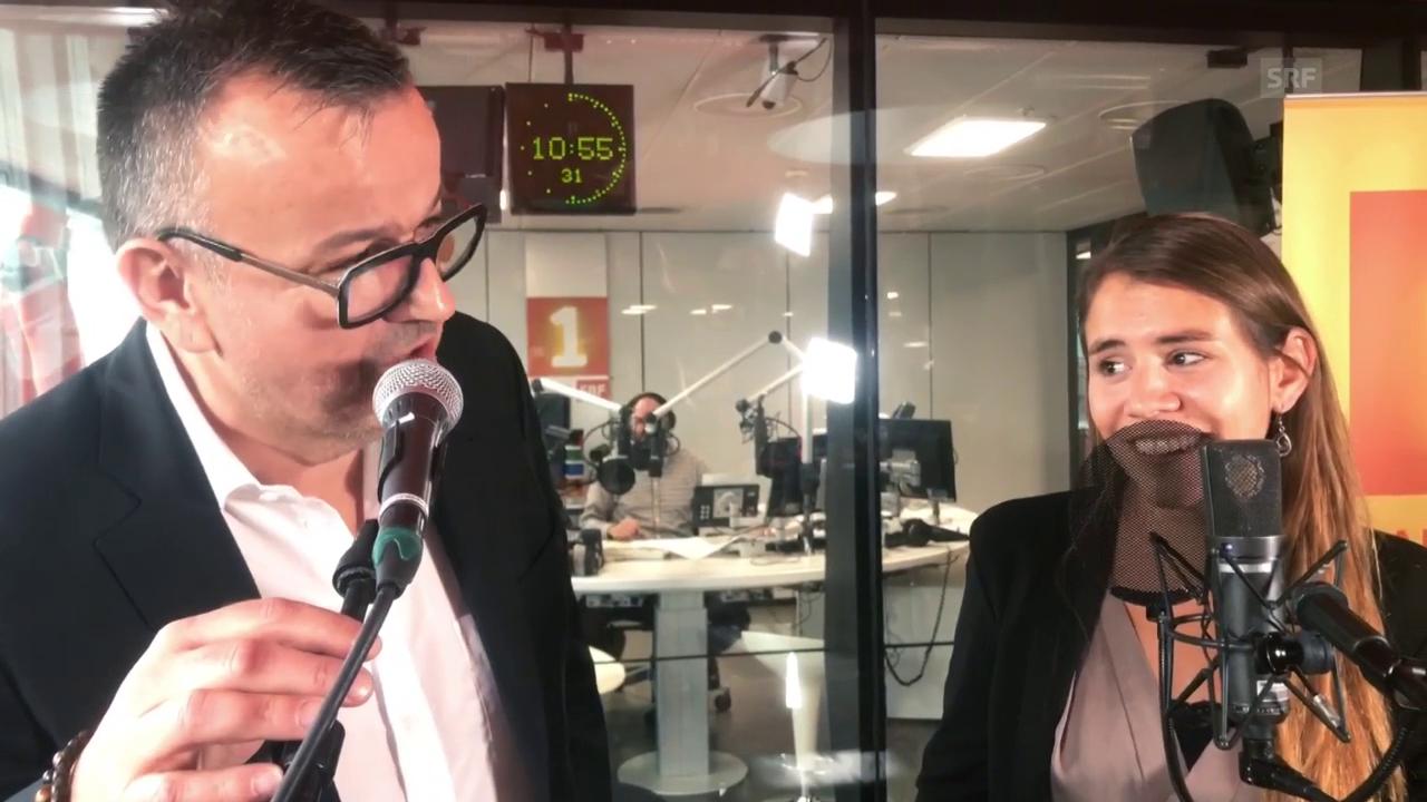 Philipp Fankhauser und Eliane singen live bei Radio SRF 1 «Dr Sidi Abdel Assar vo El Hama»