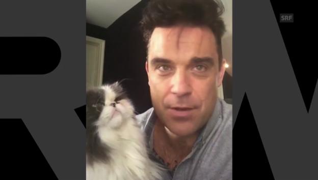 Video «Robbie Williams über sein Album» abspielen