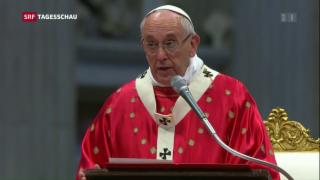 Video «Papst Franziskus lanciert Diakoninnen-Diskussion» abspielen