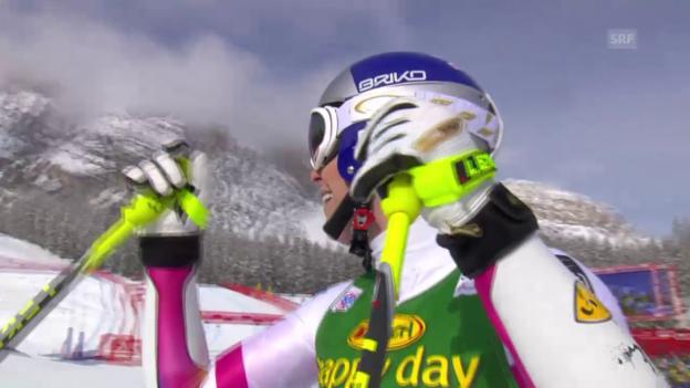 Video «Ski: Super-G Cortina, Fahrt Lindsey Vonn» abspielen