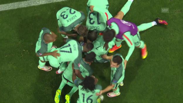Video «Die Live-Highlights bei Portugal - Wales» abspielen