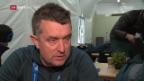 Video «Blick hinter die Kulissen: Skiproduktion mit Regisseur Giger» abspielen