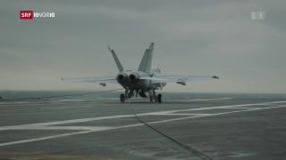 Video «Schweizer Militärpilot auf einem Flugzeugträger der US-Armee» abspielen