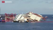 Video «Zeitraffer der Costa-Concordia-Erhebung» abspielen