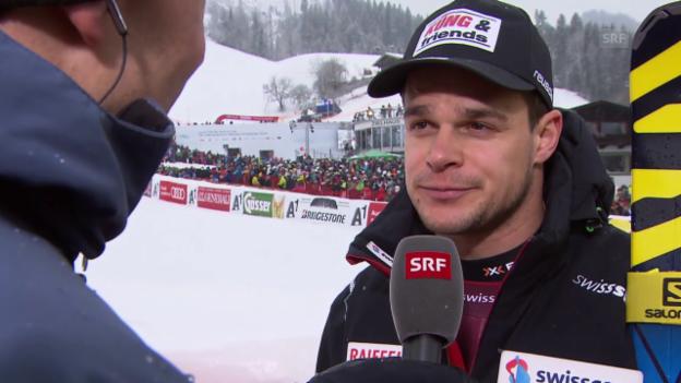 Video «Ski alpin: Weltcup der Männer, Abfahrt in Kitzbühel, Patrick Küng im Interview» abspielen