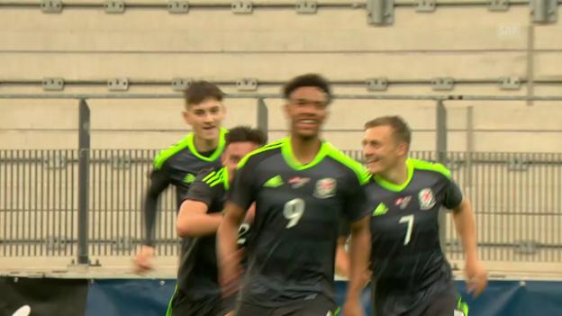 Video «Die Tore zur Partie Schweiz - Wales» abspielen
