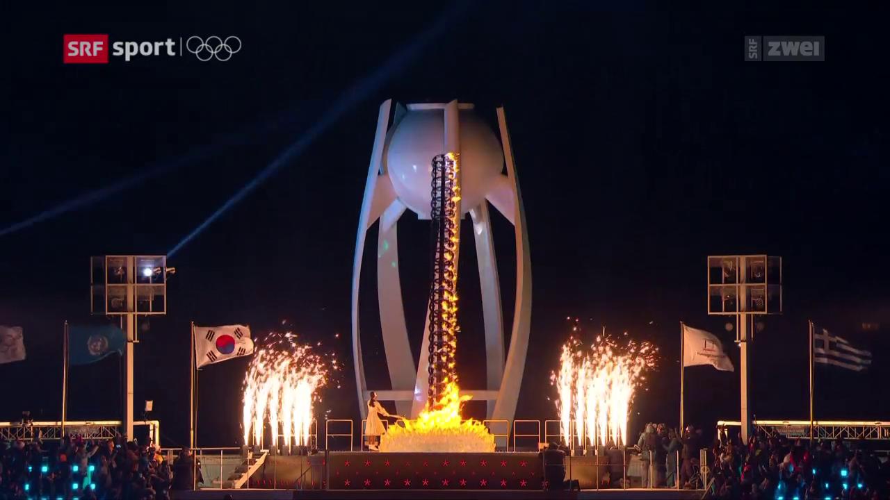 Staatspräsident Moon Jae eröffnet die Spiele feierlich