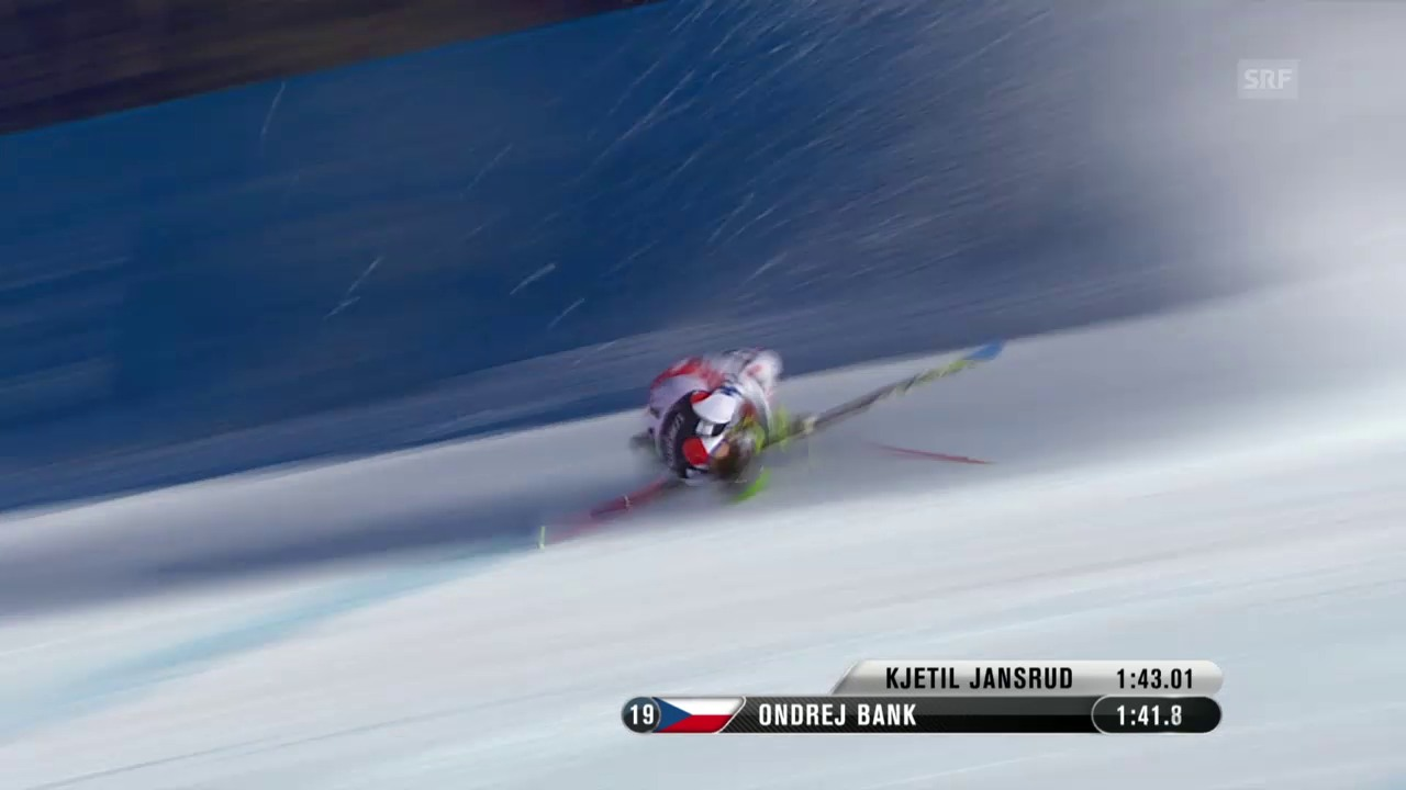 Ski: WM-Superkombi, Sturz Ondrej Bank