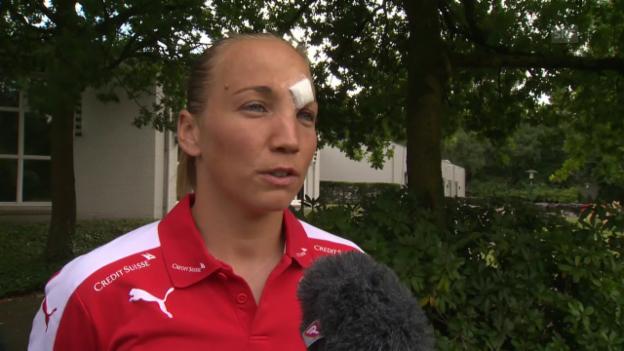 Video «Gaëlle Thalmann, stehen Sie gegen Frankreich im Tor?» abspielen