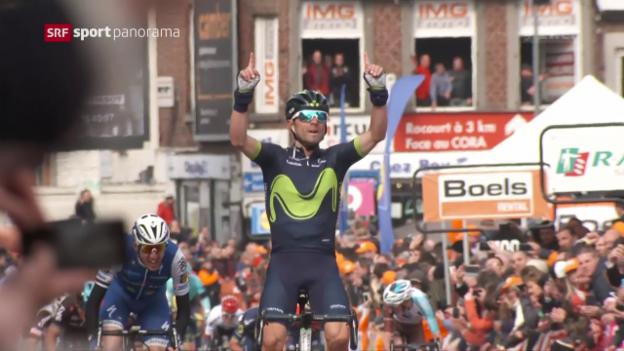 Video «Valverde mit einem unwiderstehlichen Antritt» abspielen