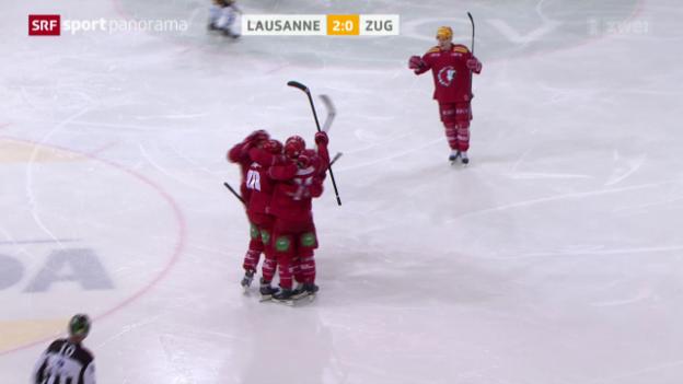 Video «Eishockey: Lausanne - Zug» abspielen