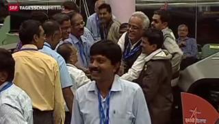 Video «Indischer Satellit erkundet Mars» abspielen
