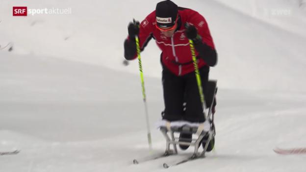 Video «Langlauf: Dario Cologna im Schneetraining» abspielen