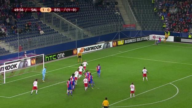 Video «Zusammenfassung Salzburg-Basel» abspielen