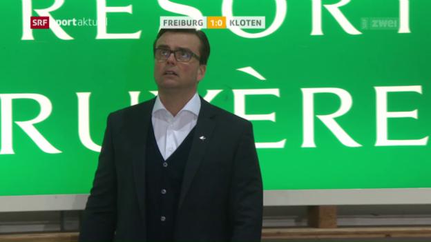 Video «Freiburg gewinnt Kellerduell gegen Kloten» abspielen