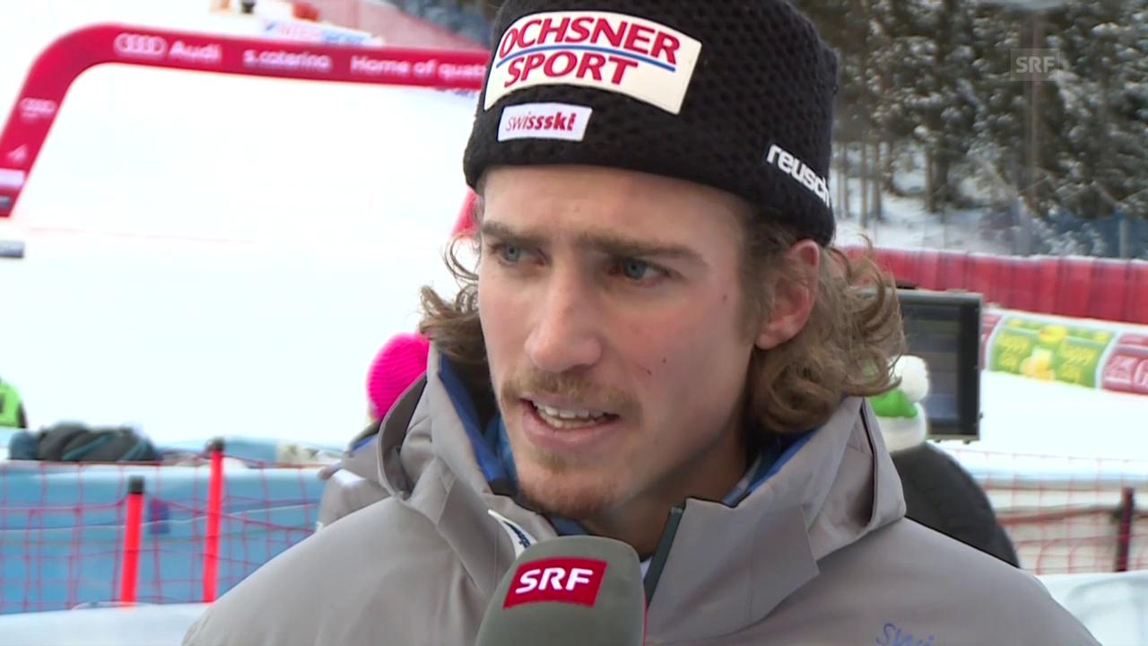Marc Rochat im Interview nach dem Rennen in Santa Caterina