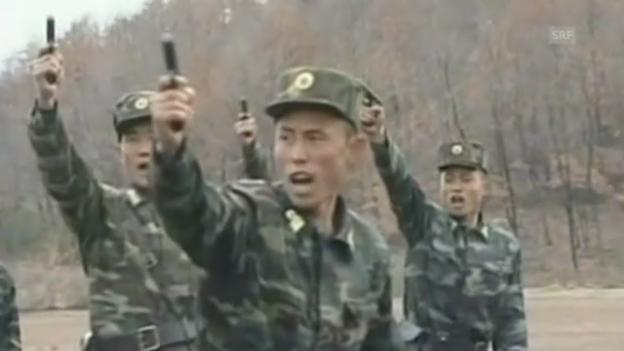 Video «Filmische Drohgebärden aus Nordkorea (unkommentiert)» abspielen