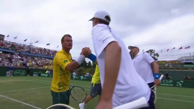 Video «Szenen aus dem Doppel Hewitt/Peers-Bryan/Bryan» abspielen