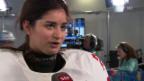 Video «Sotschi: Eishockey Frauen, Interview mit Laura Benz» abspielen