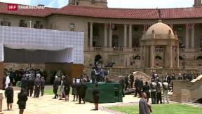 Video «Lange Warteschlangen vor Mandelas Sarg» abspielen