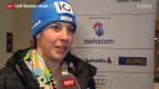 Video «Ski: Dominique Gisin vor dem WM-Riesenslalom» abspielen